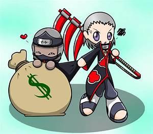 Chibi Hidan and Kakuzu by WatermelonOwl on DeviantArt