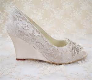 wedding shoe wedges wedding shoes peeptoe bridal shoes rhinestone wedge shoes bridesmaid shoes chagne floral