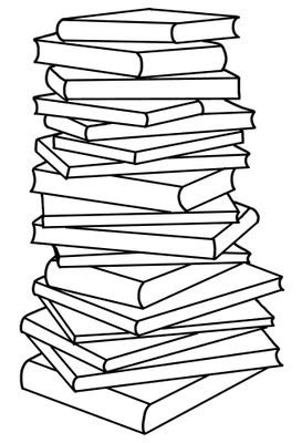 Books Black And White Clipart | Free download on ClipArtMag