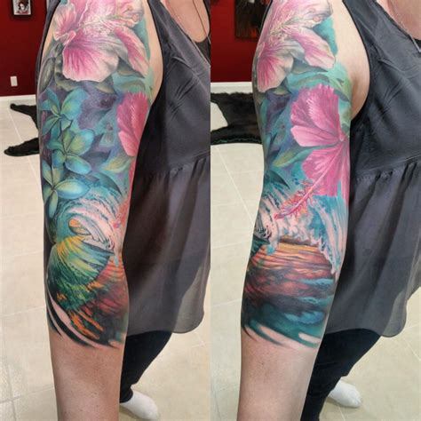 tropical sleeve  finished artist damian robertson
