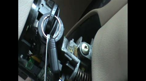 key stuck  mustang ignition switch youtube