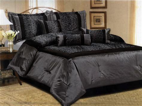 best 28 black satin comforter set 7 pc modern black