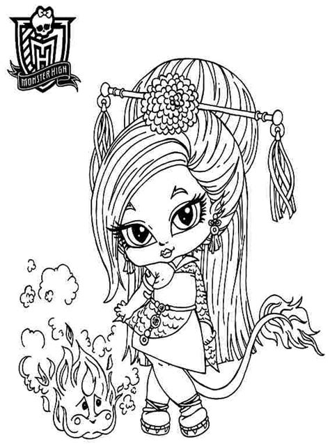 baby monster high coloring page getcoloringpagescom