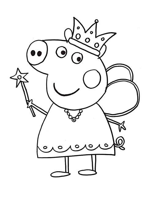 Princess Peppa Pig Coloring Page Free Printable Coloring