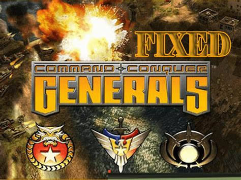 conquer command generals game windows zero hour fixed errors serious others oldest strategy popular well very fix