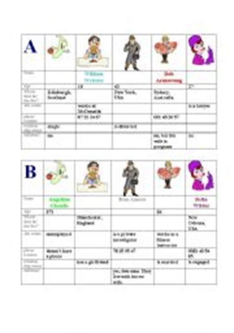 Information Gap Activities Worksheets