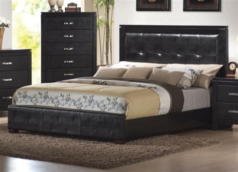 leather bedroom set queen king size beds in faux leather 4pcs bedroom set 12067 | s l1000