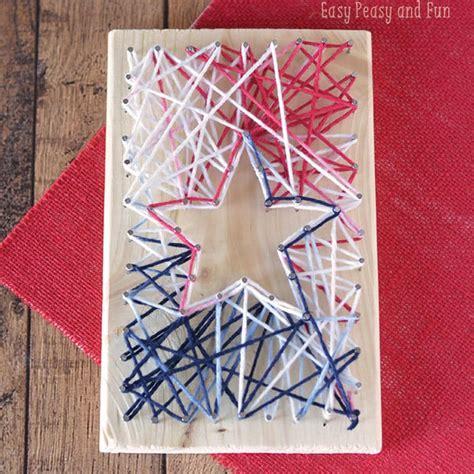 string art star yarn crafts  kids easy peasy  fun
