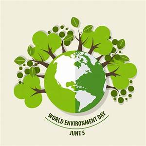 World environment day concept Green Eco Earth Vector illustration Vector Free Download