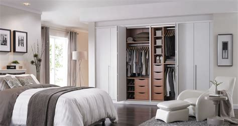 Modern Bedroom Design Ideas With White Closet Double Door