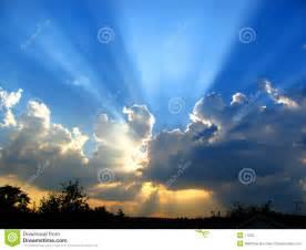 Sun Shining through Clouds Clip Art