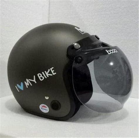 jual helm bogo retro vespa classic fino abu abu grey dop
