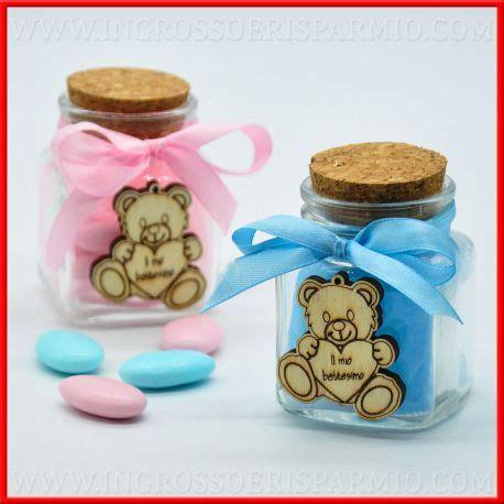 bimbo e prezzi barattoli decorati a mano con orsetto per battesimo bimba