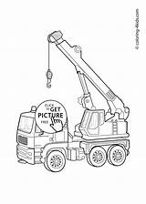 Crane Drawing Tower Coloring Pages Draw Truck Getdrawings sketch template