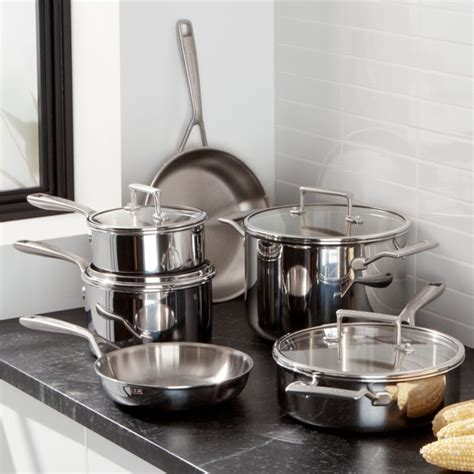 kitchenaid  piece copper core cookware set crate  barrel