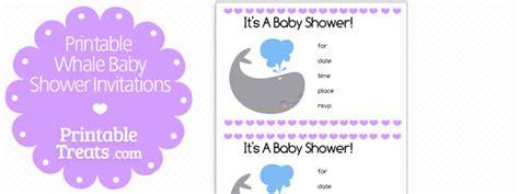 purple whale baby shower invitations printable treatscom