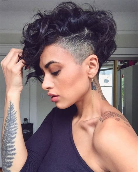 curly pixie cuts   perfect  fall  glamour