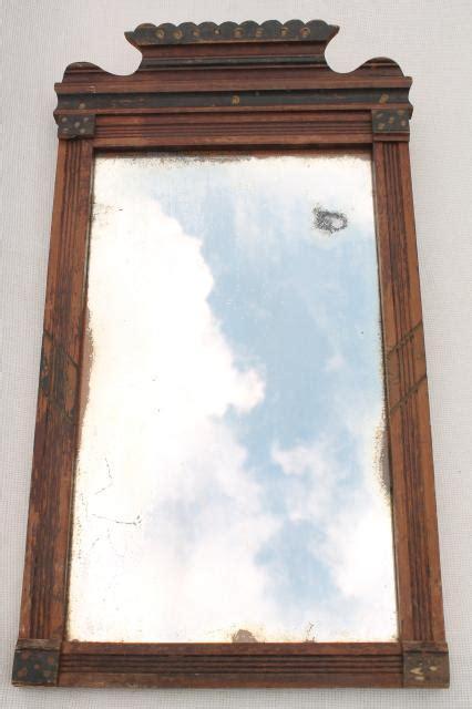 antique mid  mirror  original  glass primitive