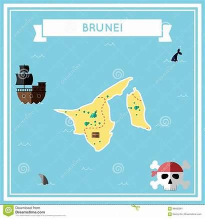 Map Darussalam Brunei Treasure Flat Morocco Vlakke