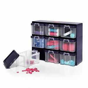 Casier De Rangement : casier de rangement avec 9 boites prym ~ Teatrodelosmanantiales.com Idées de Décoration