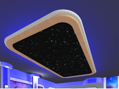 rounded star ceiling panel 4x8 stargate cinema