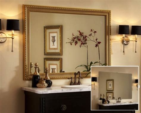 Home Mirror : Framed Bathroom Mirror Home Design Ideas, Pictures