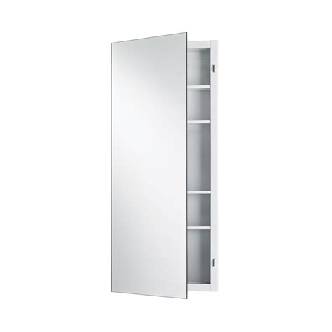 Zenith Medicine Cabinet Mp109 by Zenith 16 In X 24 In Frameless Beveled Swing Door