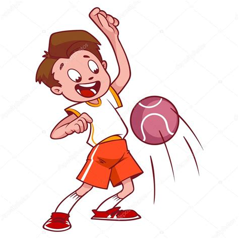 Dodgeball Clipart Cheerful Child In Dodgeball Vector