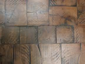 reclaimed log end wood tile flooring building
