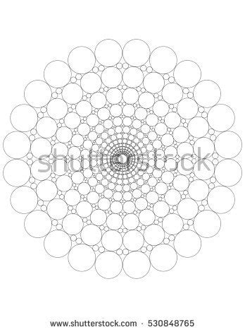 mandala dots coloring page stock illustration