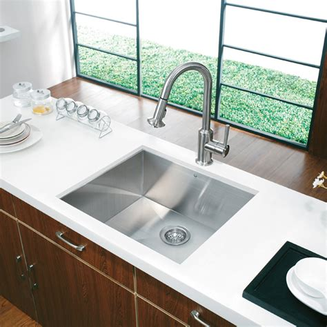 23 inch undermount stainless steel sink vigo industries vigo 23 inch undermount stainless steel