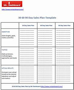 30 60 90 day sales plan free mr dashboard With free 30 60 90 day sales plan template download