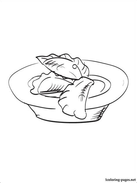 dumplings coloring page coloring pages