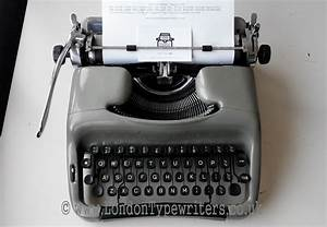 1960 U2019s Working Rare Voss 24 Vintage Manual Typewriter  New