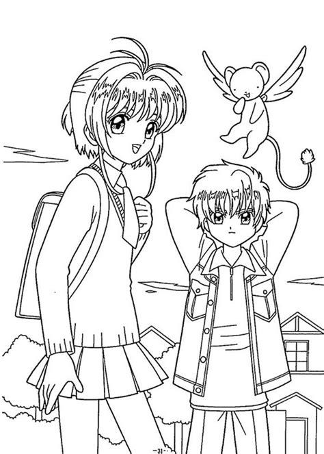 Anime lovers we got you covered. Tải miễn phí 101+ tranh tô màu Thủ lĩnh thẻ bài Sakura cho bé