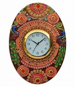 unique, indian, crafts, circular, analog, wall, clock, , , 33, x, 45, cm, , , , buy, unique, indian, crafts