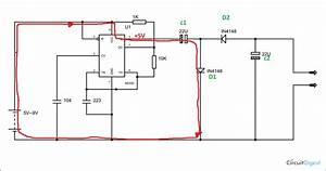 Negative Voltage Generator Circuit Diagram Using Ic 555