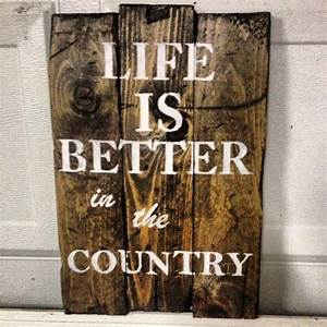 Vintage rustic wooden sign home wall decor life by