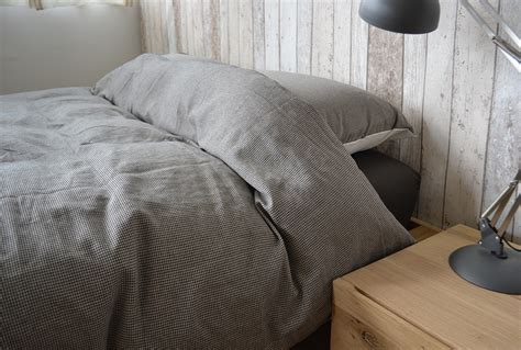 Chambray Duvet Cover Sets  Cotton Bedding  Natural Bed