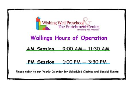 preschool hours of operation hours of operation www 628