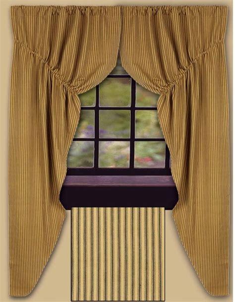 york ticking prairie curtain final sale