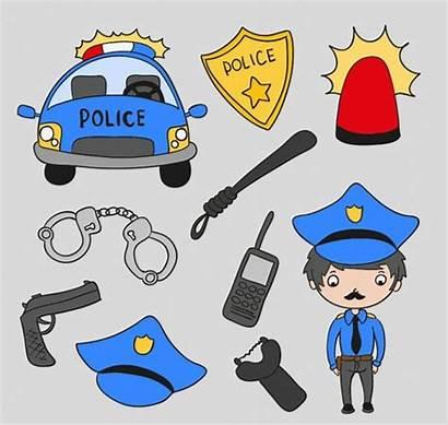 Police Clipart Cartoon Things Clip Vector Clipartpanda