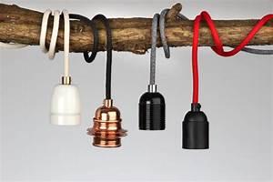 Glühbirnenfassung Mit Kabel : lampenkabel textil mit fassung ostseesuche com ~ Orissabook.com Haus und Dekorationen