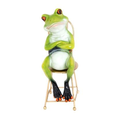 frog sitting  chair globe imports