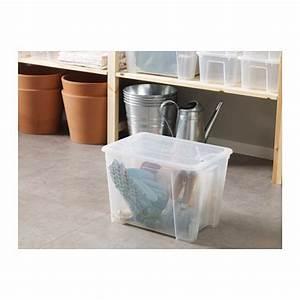Samla Box Ikea : samla bo te transparent 39x28x28 cm 22 l cajas ikea transparente ikea ~ Watch28wear.com Haus und Dekorationen