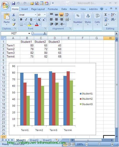 create excel chart