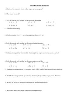 periodic trends worksheet answers