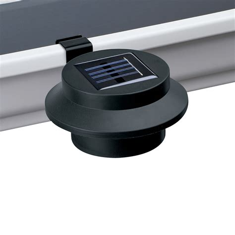 black solar gutter clip on light by collections etc ebay
