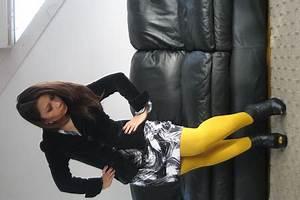 Black H&M Blazers Tar Dresses Yellow H&M Tights
