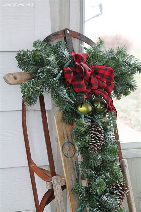 christmas sled ideas  pinterest decorating